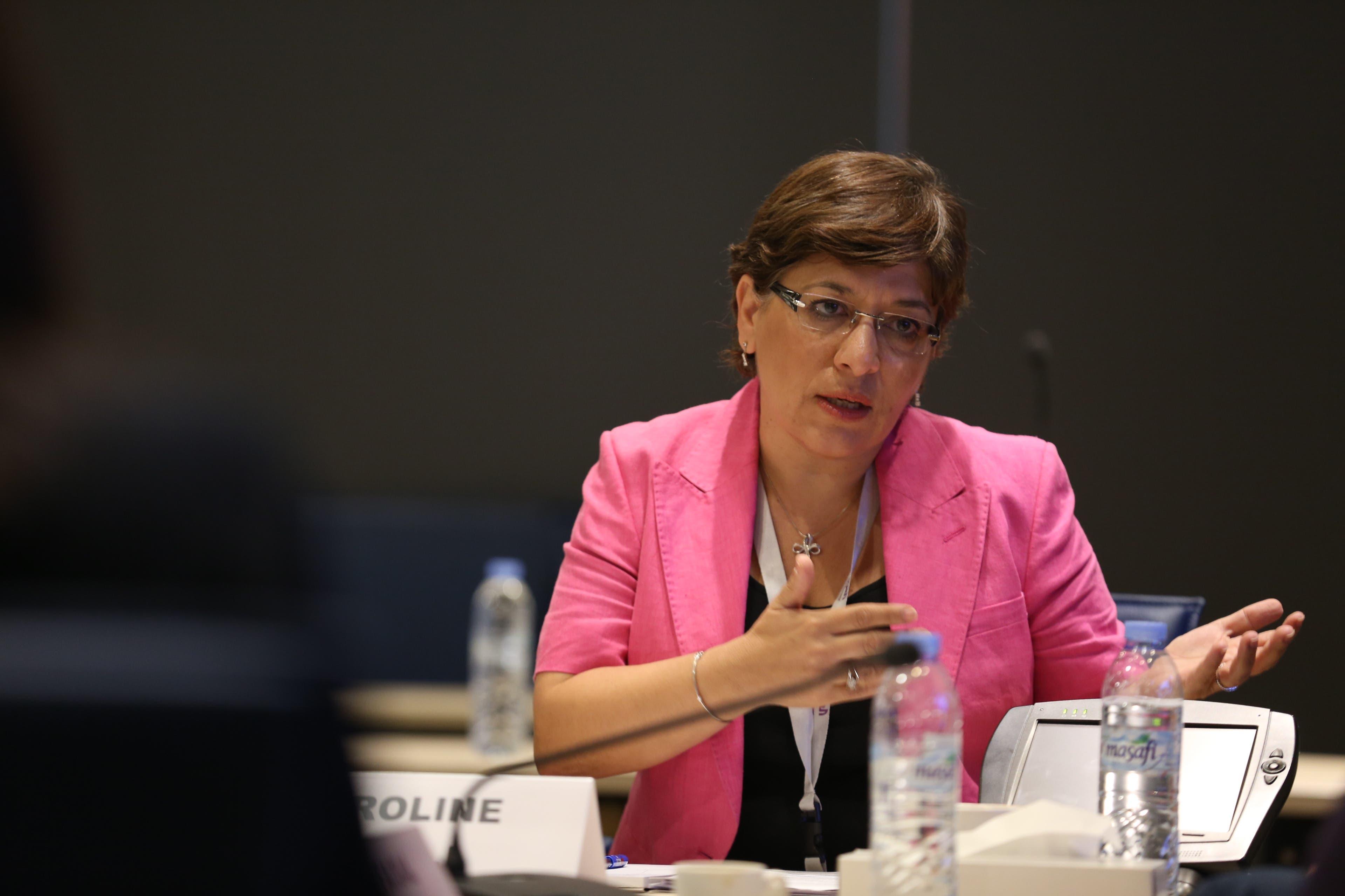 Caroline Faraj, vice president of Arabic services at CNN. (Al Arabiya News)