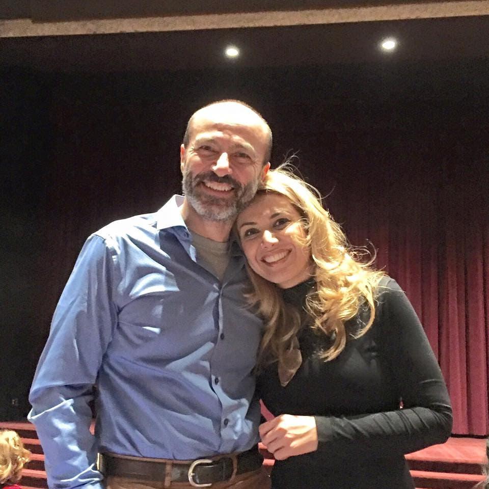 جهاد عبدو وزوجته ناديا عفاش