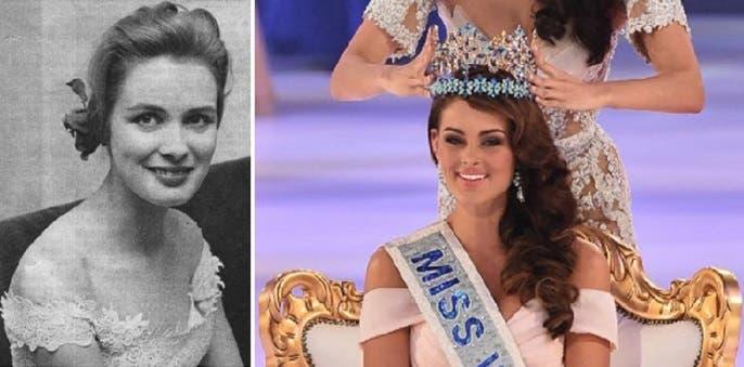 ملكة 2014 الجنوب افريقية رولين ستراوس، والفائزة في 1951 بأول مسابقة، كيرستن هاكانسون