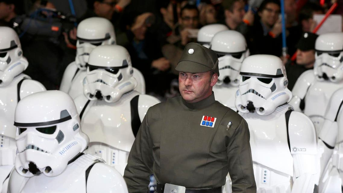 Characters in costume march through Leicester Square at the European Premiere of Star Wars, The Force Awakens in London, December 16, 2015. (Reuters)
