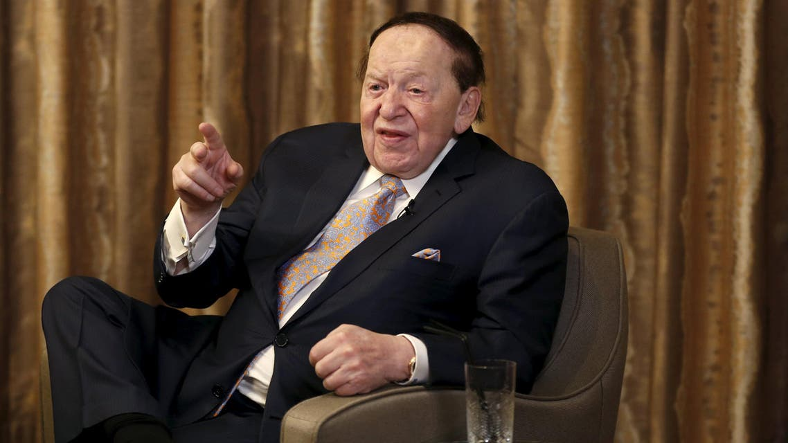 Gambling giant Las Vegas Sands Corp's Chief Executive Sheldon Adelson speaks during an interview with Reuters in Macau, China December 18, 2015. (Reuters)