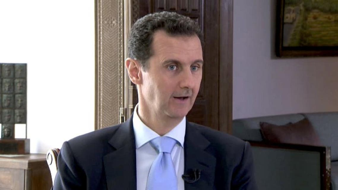 Syrian President Bashar al-Assad speaks during a TV interview in Damascus, Syria in this still image taken from a video on November 29, 2015   Reuters