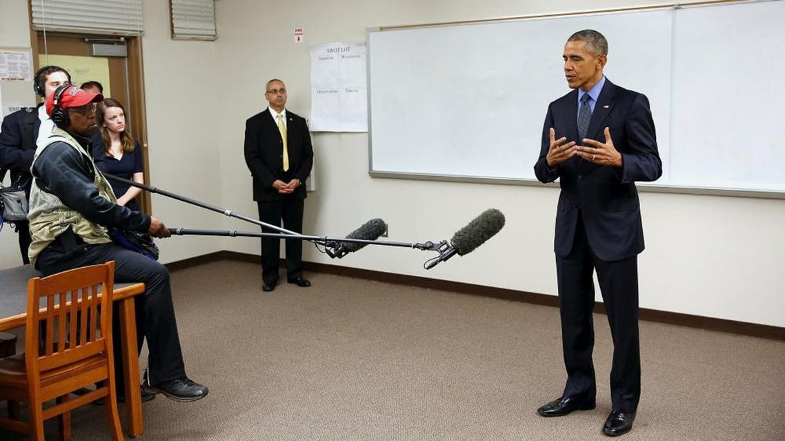 U.S. President Barack Obama delivers remarks on the recent shootings in San Bernardino, after meeting with victims' families at Indian Springs High School in San Bernardino, California December 18, 2015. (Reuters)
