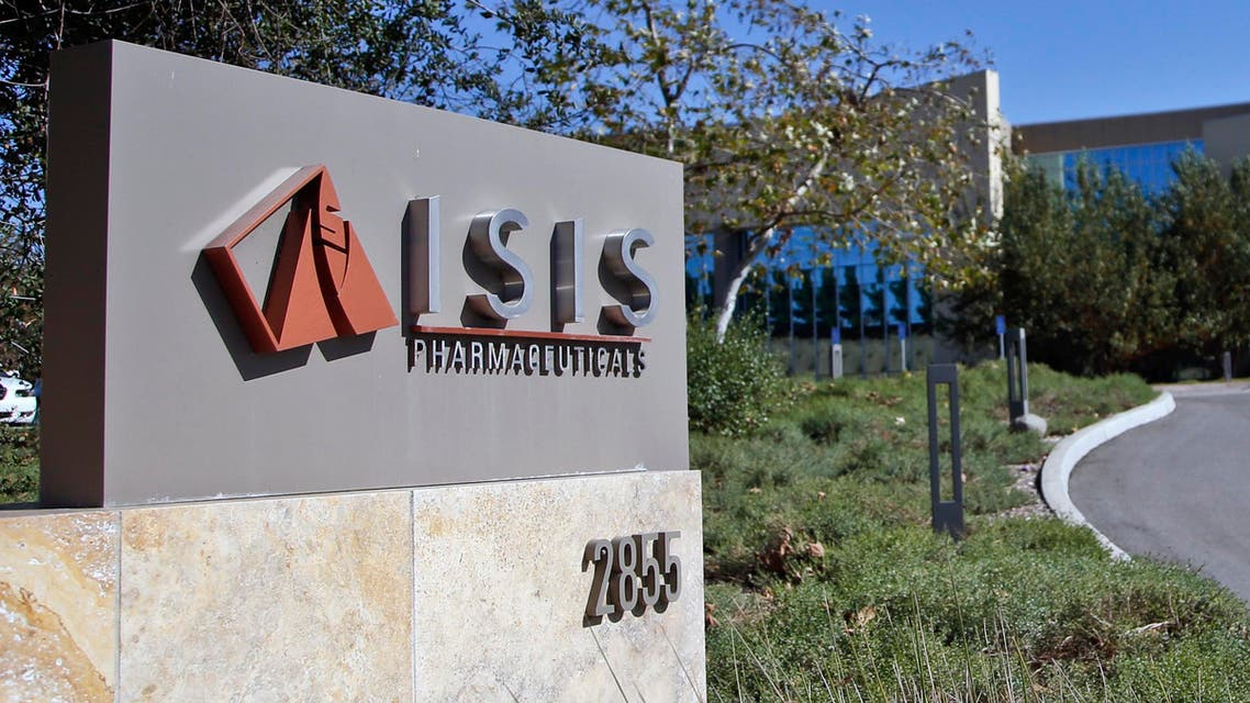 This Monday, Sept. 29, 2014 photo shows signage outside the headquarters building of Isis Pharmaceuticals Inc. in Carlsbad, Calif.