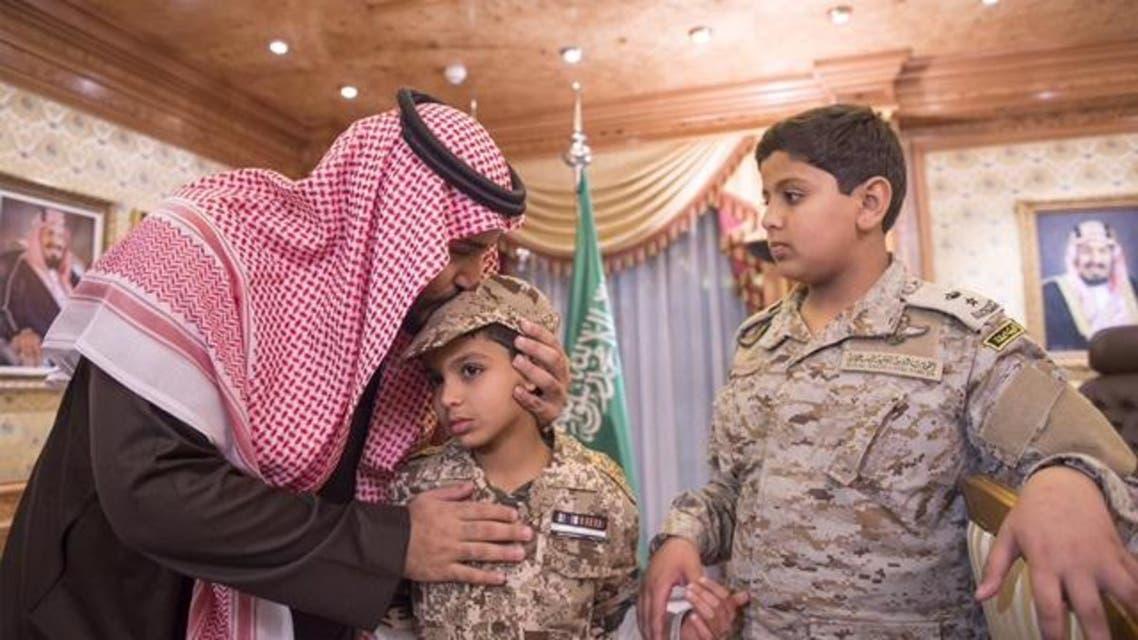 الأمير محمد بن سلمان وأبناء العقيد السهيان