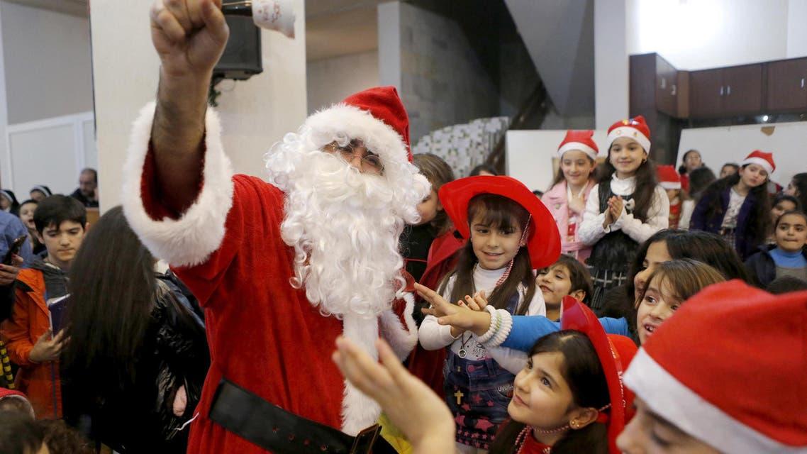 Mideast refugee children celebrate Christmas