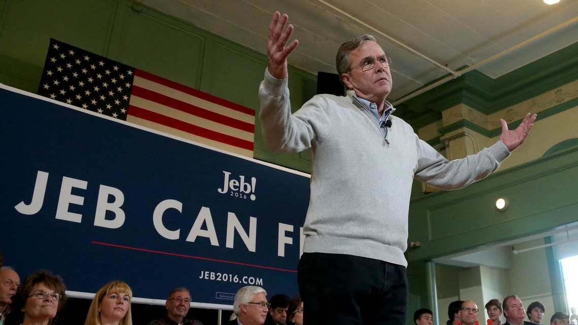 Republican presidential candidate, former Florida Gov. Jeb Bush reacts to a question during a town hall event, Saturday, Dec. 19, 2015, in Exeter, N.H. (AP