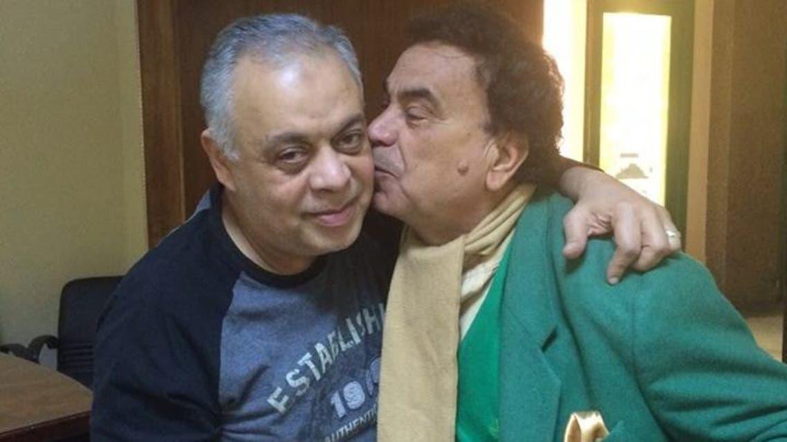 سيد مصطفى مع نقيب الممثلين المصريين