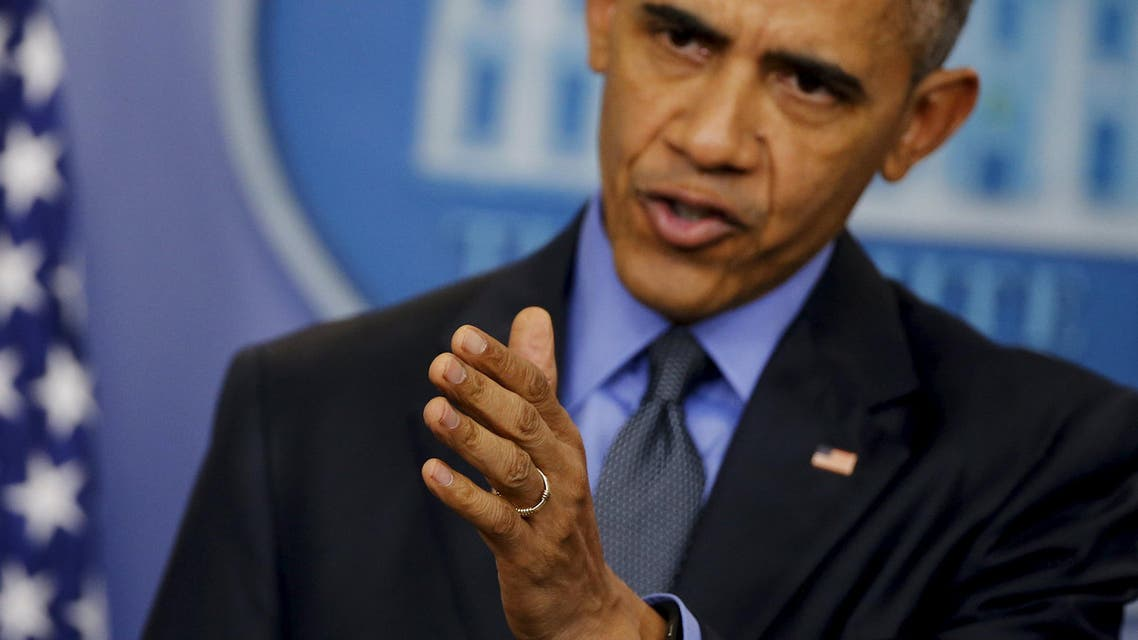 U.S. President Barack Obama gestures as he holds his end of the year news conference at the White House in Washington, December 18, 2015. (Reuters)