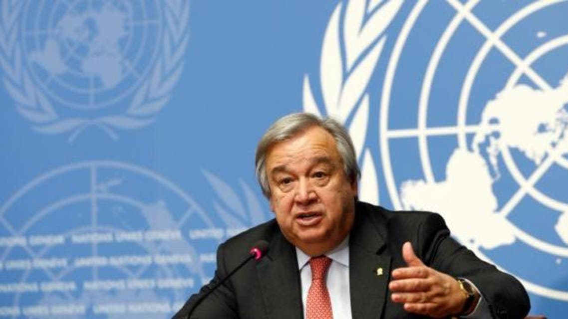 Antonio Guterres, United Nations High Commissioner for Refugees (UNHCR) addresses a news conference at the United Nations in Geneva, Switzerland December 18, 2015. (Reuters)