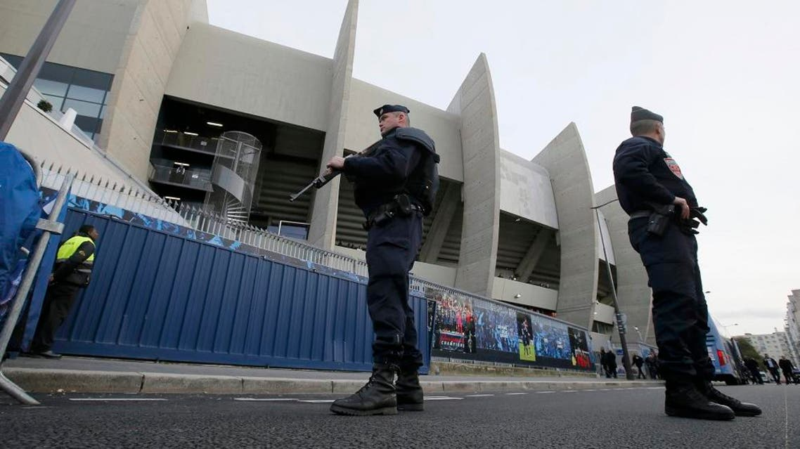 Armed French CRS police patrol outside a soccer stadium in Paris. (File photo: Reuters)