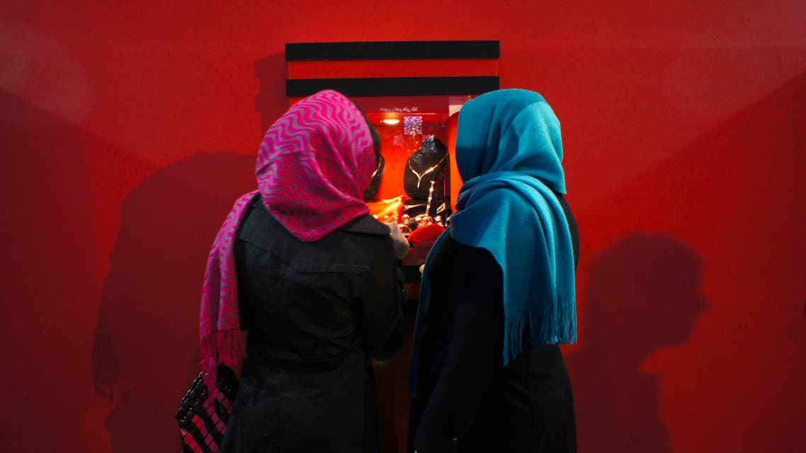 Women view a display at an international gold and jewellery fair in Tehran. (File photo: Reuters)