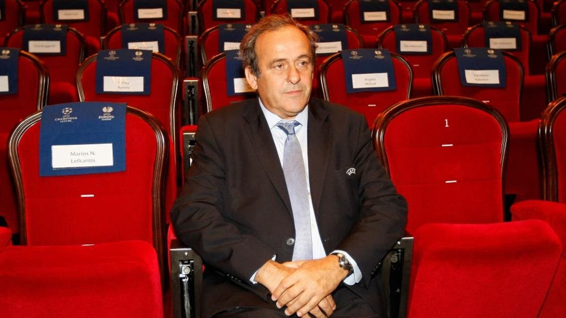 UEFA President Michel Platini, attends the soccer Europa League draw ceremony at the Grimaldi Forum, in Monaco, Friday, Aug. 28, 2015 (AP)