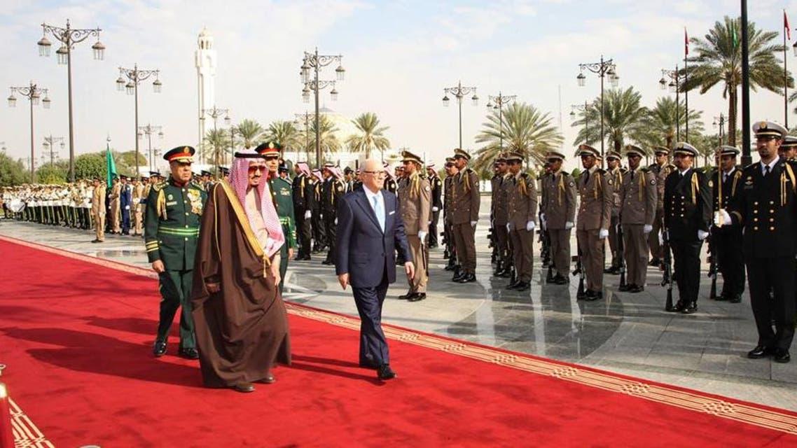 استقبال السبسي في الرياض
