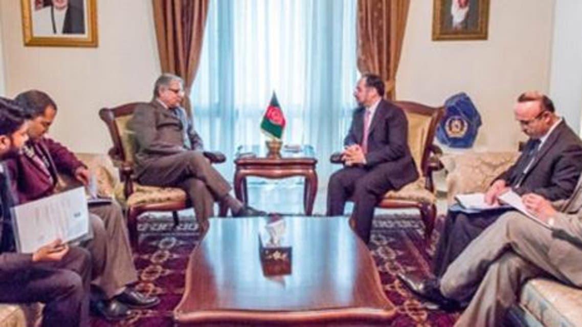 وزیر خارجه افغانستان با سفیر هند