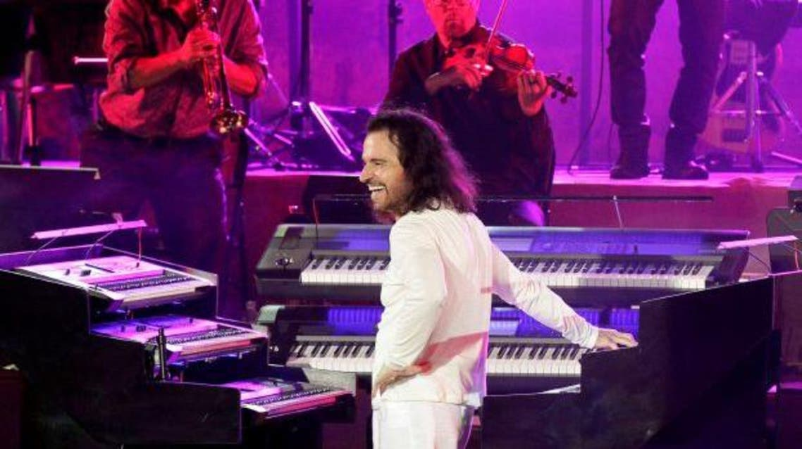 Yanni played his first-ever concert in Egypt in October, bringing an orchestra and an accompanying light show to the pyramids. (AFP)