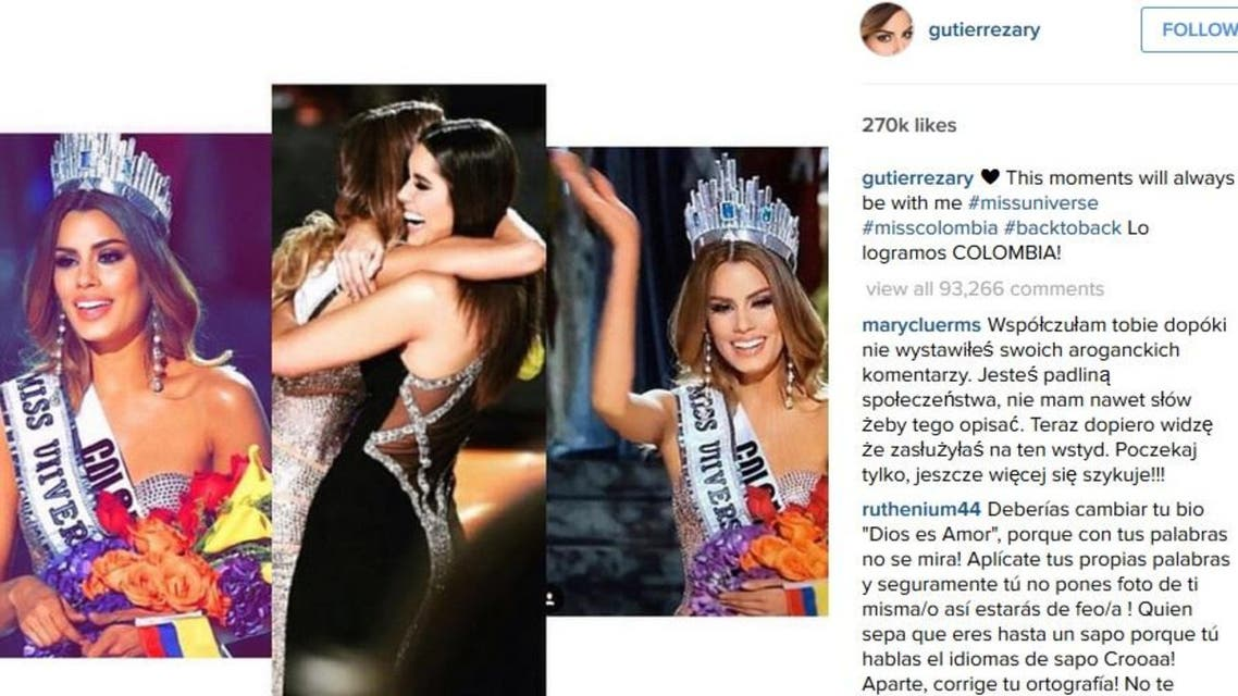 """""""Thanks to all the Colombians who have been showing me support and affection."""" (Instagram/ gutierrezary)"""