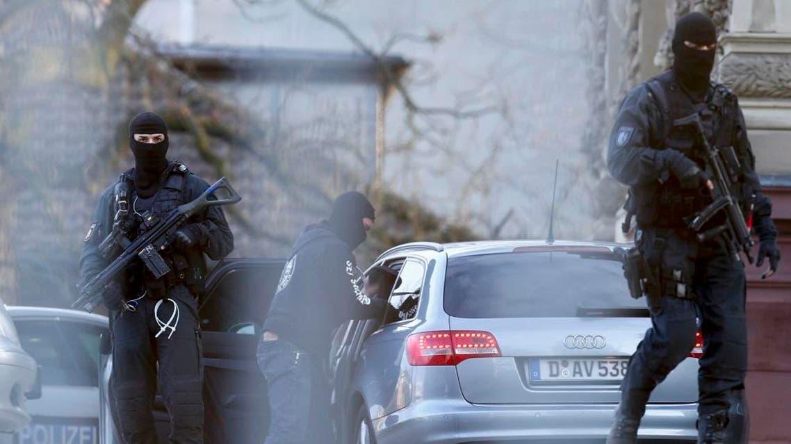 German special police forces SEK stand guard outside the building of the German Federal Supreme Court (Bundesgerichtshof) in Karlsruhe, Germany December 15, 2015   Reuters