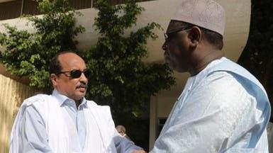 أول ظهور لرئيس موريتانيا بعد وفاة نجله