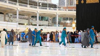 2200 عامل و4078 آلة لأعمال النظافة بالمسجد الحرام