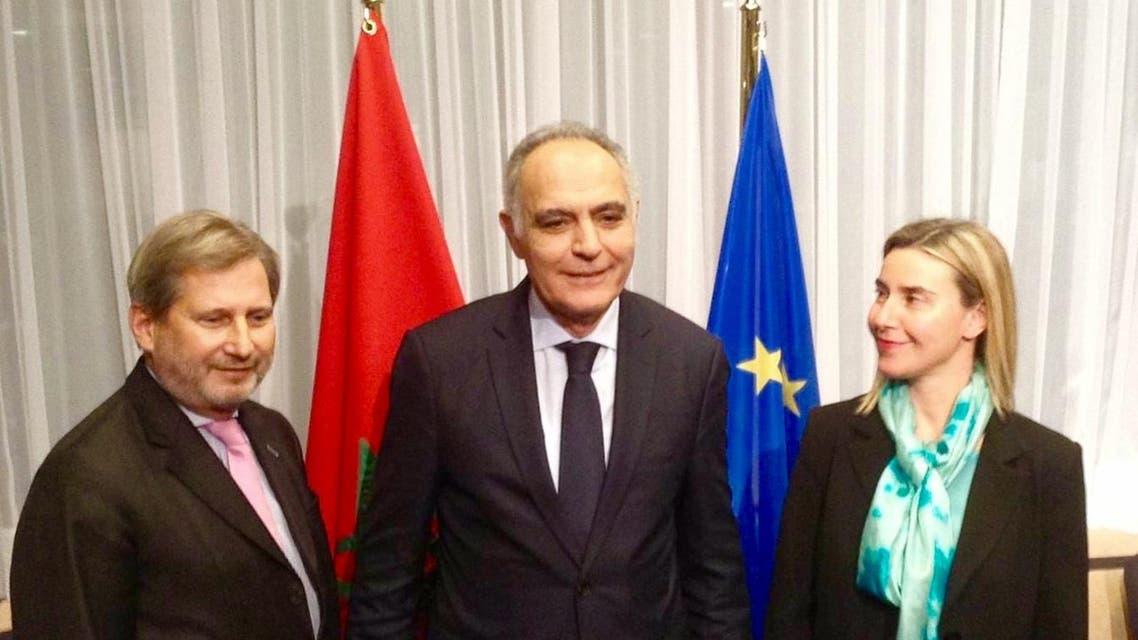 وزير الخارجية المغربي مع رئيسة الدبلوماسية في الاتحاد الأوروبي