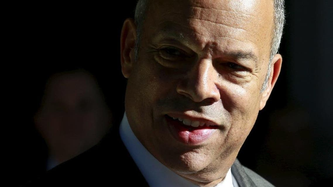Department of Homeland Security (DHS) Secretary Jeh Johnson talks to the media about holiday travel at Union Station in Washington, November 25, 2015   Reuters