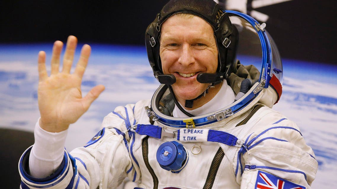 British astronaut Tim Peake, member of the main crew of the expedition to the International Space Station (ISS), gestures prior the launch of Soyuz TMA-19M space ship at the Russian leased Baikonur cosmodrome, Kazakhstan, Tuesday, Dec. 15, 2015.