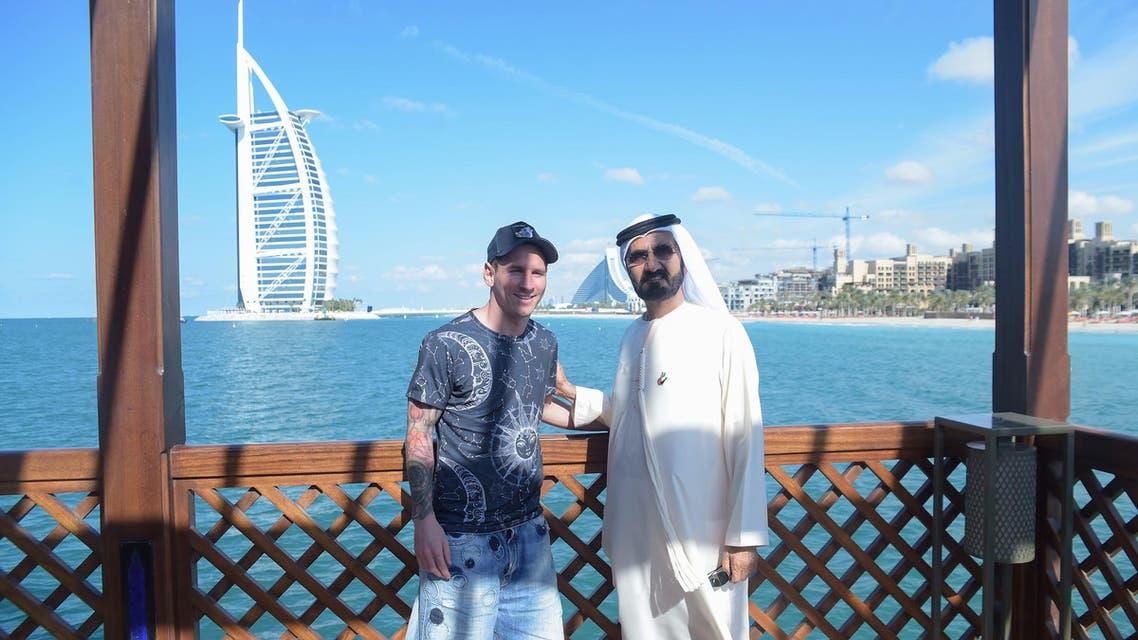 ميسي ومحمد بن راشد