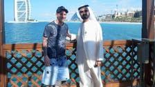Barcelona star Messi photographed with Dubai ruler