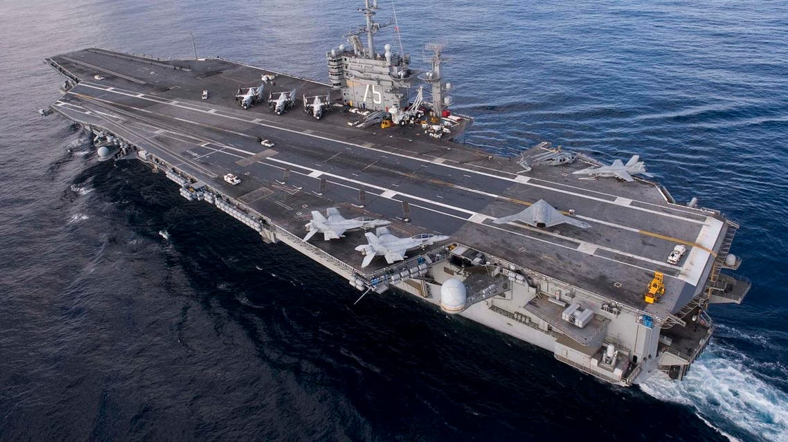 This US Navy handout photo released on December 10, 2012 shows the aircraft carrier USS Harry S Truman in the Atlantic Ocean. (AFP)