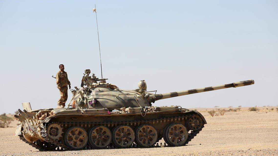 عناصر من الجيش الوطني اليمني تقاتل بين الجوف ومأرب (أرشيفية)