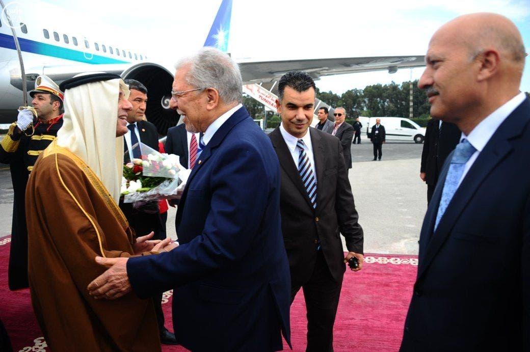 وزير الخارجية التونسي الطيب البكوش لدى استقبال الجبير