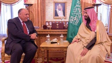 محمد بن سلمان وشكري يبحثان التعاون بين السعودية ومصر