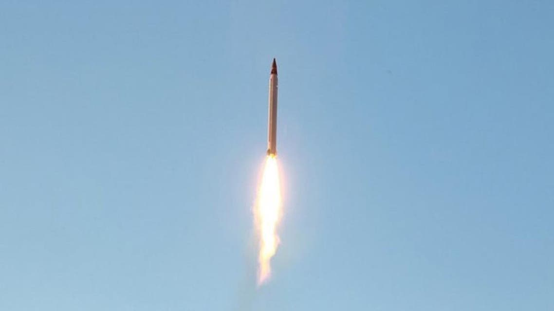 An Iranian Emad rocket is launched as it is tested at an undisclosed location. (Reuters)