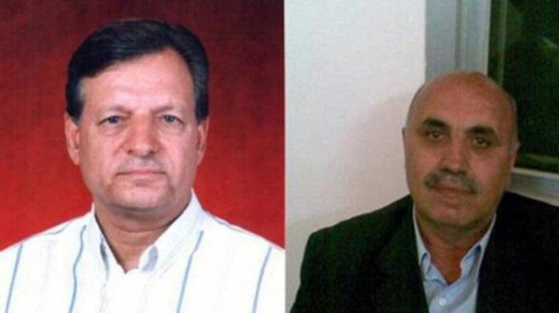 Ahmad al-Asrawi & Munir al-Bitar from the National Coordination Committee for Democratic Change were stopped at border with Lebanon. (Al Arabiya archives)