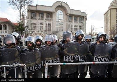 الأمن الإيراني بمحيط السفارة السعودية - طهران