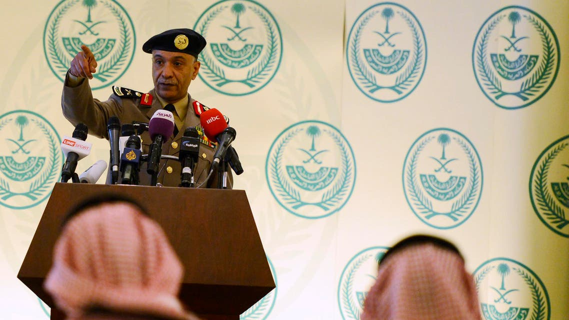 Saudi Arabia's Interior Ministry spokesman Mansour Turki gestures during a news conference in Riyadh March 24, 2013. (Reuters)