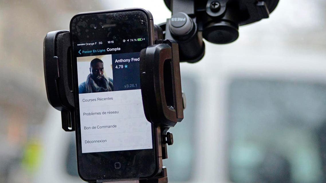 Director General of Uber in Saudi Arabia Majid Abokhatr explained that Uber is a technology company that does not own cars or hire drivers. (File photo: AP)
