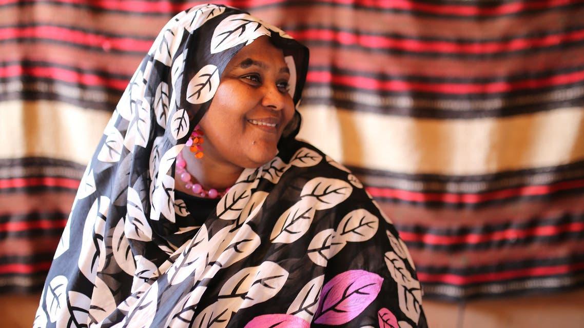 Umma party deputy head Mariam al-Mahdi talks with an AFP journalist on January 3, 2016 in the Sudanese capital Khartoum.