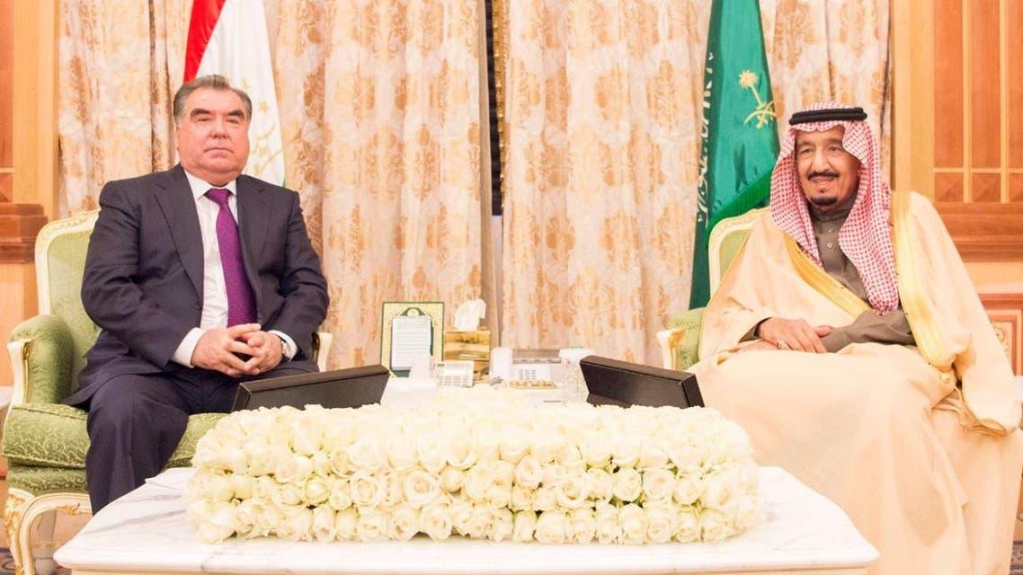 پادشاه سعودی و رییس جمهوری تاجیکستان