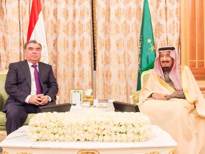 دیدار ملک سلمان پادشاه سعودی و امامعلی رحمان رییس جمهوری تاجیکستان