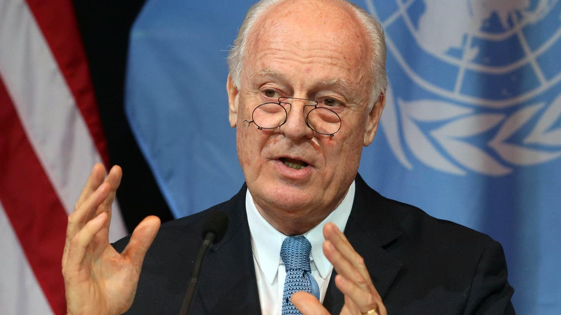 U.N. Special Envoy for Syria Staffan de Mistura speaks during a news conference in Vienna, Austria, Saturday, Nov. 14, 2015. (AP)