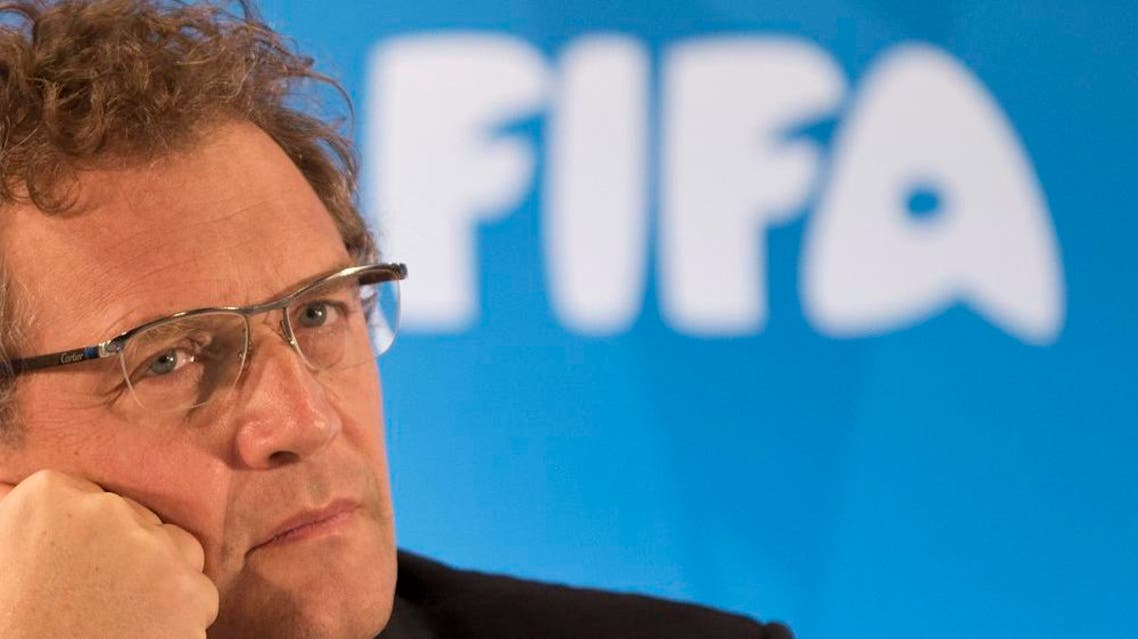 In this Thursday, Jan. 23, 2014 file photo FIFA Secretary General Jerome Valcke listen to questions during a news conference to present the new world cup song at the Maracana stadium in Rio de Janeiro, Brazil. FIFA's ethics investigator Cornel Borbely recommended Tuesday Jan. 5, 2016 a 9-year ban for suspended secretary general Jerome Valcke. (AP Photo/Felipe Dana, File)
