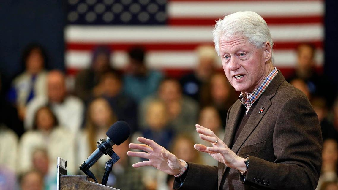 Former President Bill Clinton speaks during a campaign stop for his wife, Democratic presidential candidate Hillary Clinton. (AP)