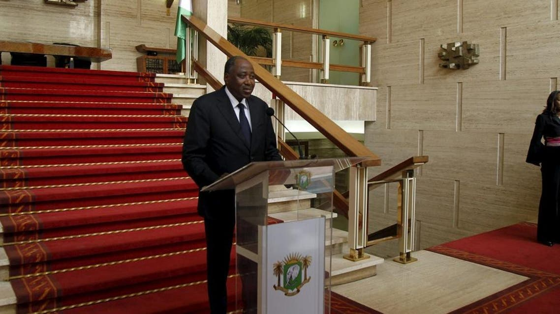Ivory Coast secretary general of the presidence, Amadou Gon Coulibaly reads a declaration at the presidential palace in Abidjan, January 6, 2016 | Reuters