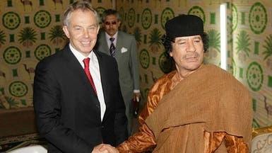"""بلير طلب من القذافي """"الاحتماء بمكان آمن"""" قبل الإطاحة به"""
