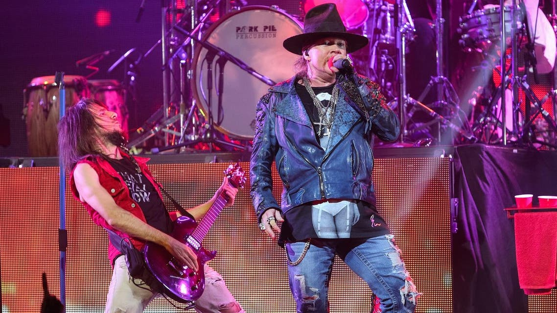 The festival will mark the first time that singer Axl Rose and guitarist Slash play together since 1993 when they ended a tour in Argentina amid personality disputes. (File photo: AP)