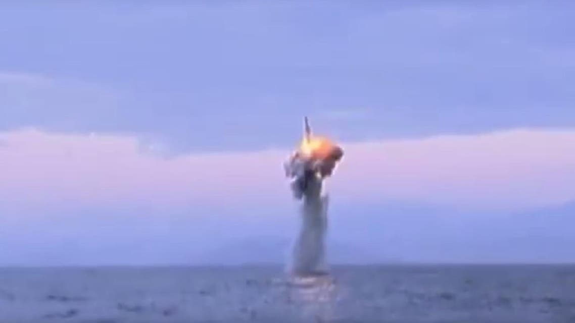 YouTube video appearing to show North Korean submarine launching missile. (Courtesy: YouTube/ Anne Lee)