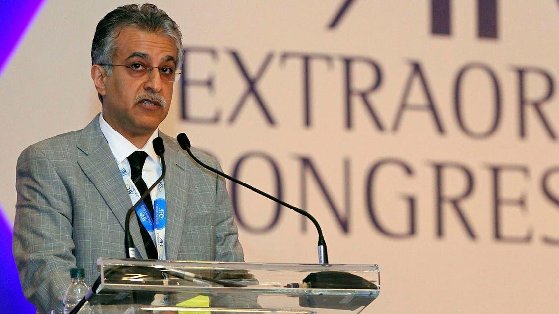Sheikh Salman Bin Ibrahim Al Khalifa of Bahrain speaks during AFC conference at a hotel in Kuala Lumpur, Thursday, May 2, 2013. (AP)
