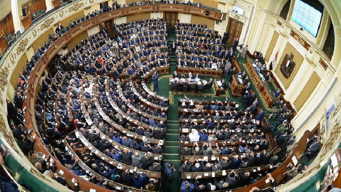 Members of Egypt's new parliament hold their inaugural session in Cairo on January 10, 2016 (AFP)